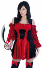 Ladies Pirate Wench Fancy Dress Costume Womens Caribbean Sexy Halloween