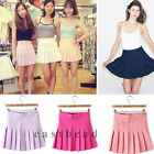 New Fashion High Waist Pleated Womens Slim Thin Tennis Skirts Mini Dress Playful