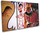 Urban Graffiti TREBLE CANVAS WALL ART Picture Print VA