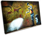 Cave Painting Banksy Street SINGLE CANVAS WALL ART Picture Print VA