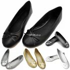 New Ladies Womens Bow Flat Designer Dolly Shoes Ballet Ballerina Pumps Flats
