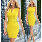 HOT Women Wear To Work Tunic Business Party Cocktail Stretch Bodycon Shift Dress
