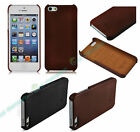 Genuine Real Luxury Leather Slim Back Case Cover for New Apple iPhone 5S 5G 4S/G