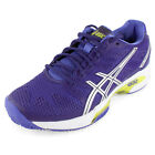 Asics Women`s Gel Solution Speed 2 Clay Court Tennis Shoes Purple and Silver
