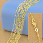 "Wholesale 5X 16-30"" 18K Yellow Gold Filled Women's/Men's GF Necklace Chain link"