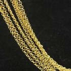 "5Pcs 16-30"" Jewelry Findings 18K Yellow Gold Filled ROLO Link Necklace Chain GF"