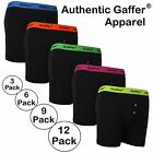Mens Authentic Gaffer Brand Designer Neon Rib Boxer Shorts Underwear Trunks