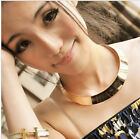 occident exaggerate fashion metal mirror party collars wedding clavicle necklace