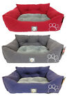 Sue High Backed Pet Bed Dog Puppy Paws Pillow Cushion Basket Nest Mat