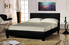 LEATHER BED-DOUBLE KING-BLACK-BROWN With MEMORY FOAM-ORTHOPAEDIC MATTRESS