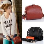 Women Mini Leather Tote Korea Style Shoulder Bag Handbag Rivet Messenger Bag