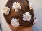 1  x ROSE GRIP all colours hair pins wedding kirby grip large flower bridal