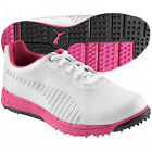 Puma Faas Grip Junior Golf Shoes - White/Silver/Cabaret
