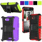 For LG Optimus L70 MetroPCS MS323 Exceed 2 Hard Soft Hybrid Armor Kickstand Case