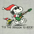 Kid's 'Tis The Season To Rock Snoopy T-Shirt Christmas Peanuts Woodstock Guitar