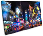 New York Times Square City SINGLE CANVAS WALL ART Picture Print VA