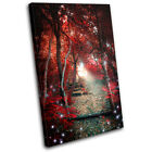 Mystical Forest Trees Landscapes SINGLE CANVAS WALL ART Picture Print VA
