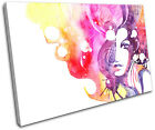 Abstract Female Fashion SINGLE CANVAS WALL ART Picture Print VA