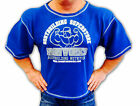 BLUE  TEAM IRONWORKS BODYBUILDING CLOTHING WORKOUT TOP