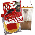 ORIGINAL GENUINE RED TOP FLY AND WASP TRAPS. FOR CLEANER SAFER GARDENS & KENNELS