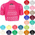 New  Ladies Winter Knitted Bolero Shurg Crochet  Short Sleeves Cardigan Top