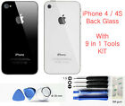 Genuine Replacement Back Glass for Apple iPhone 4S 4G Rear Cover Case Housing