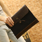 Hot Mens Briefcase Canvas+PU handbag Vintange Clutch case Business envelope bag