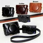 Leather Camera Case Bag Grip Strap for Sony DSC-RX100 Mark III M3