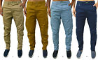 Mens GIO GOI Designer Jeans Loose Carrot Fit Stylish Chino Trousers 4 Colours
