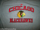 Chicago Blackhawks Majestic Heart and Soul Men's Tee T-Shirt - Heather Grey M L