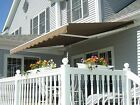 10' x 8' / 12' x 10'/ 8'x6' Patio Awning Retractable Motorized Manual Tan Shade cheap