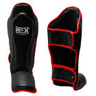 Met-X  Gel Shin Instep Foot Pads MMA UFC Leg Kick Guards Muay Thai Boxing White