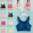 Underwire Seamless Sleeveless Cropped Sports Tank Comfort Bra