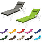 Water Resistant Cushion Pad For Outdoor Garden Patio Adjustable Sun Lounger Bed