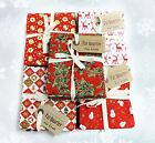 CHRISTMAS FAT QUARTER BUNDLE 100% COTTON PATCHWORK QUILTING CRAFT FABRIC