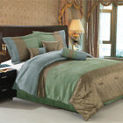 Pacifica Coffee/Sage 7-Piece comforter set