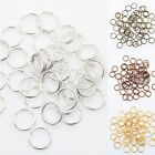 Gold & Silver Plated 6 Colors Metal Double Split Jump Rings 4,5,6,8,10,12MM