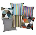 ak+6 Colors Stripe Triangle Cotton Canvas Cushion Cover/Pillow Case*Custom Size