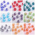 20/100pcs Round Ball 96Faceted Glass Crystal Loose Findings Spacer Beads 10mm