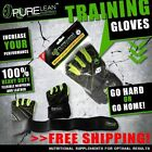 PREMIUM QUALITY GYM GLOVES WEIGHT LIFTING LEATHER GLOVES WITH WRIST STRAP SUPPOR