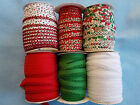 3 metres  PICOT LACE EDGE Bias Binding / CHRISTMAS / red / green / white / craft