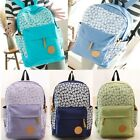Lady Canvas Travel Satchel Shoulder Bag Backpack School Rucksack