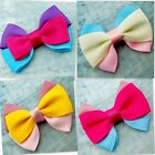 25 Grosgrain Ribbon Triple Bow Scrapbooking/Hair Clip Making/Card Making
