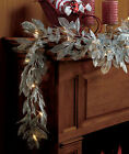 """LED Lighted Metallic Garland Silver or Gold Mantel or Window Wireless 61"""""""