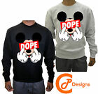 Mickey Dope Finger Mouse Swag Hands Disobey Drake Sweatshirt Jumper Sweater Cool