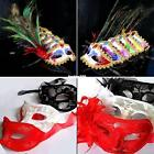 MASQUERADE PARTY PROM VENETIAN FANCY DRESS FEATHER LACE FLOWER EYE FACE MASK