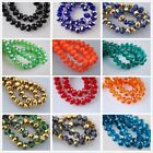 70pcs New Faceted Rondelle Crystal Glass Loose Beads DIY Findings 8mm
