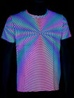 "Schwarzlicht Neon Stretch T-Shirt ""Headspin"" Goa Blacklight"