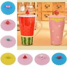 Nice Airtight Anti-dust Coffee Mug Cup Cover Lid Suction Silicone Cap -W