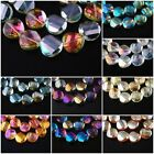 Lampwork 20ps Faceted Glass Crystal Twist Tile Beads Spacer Jewelry Finding 18mm